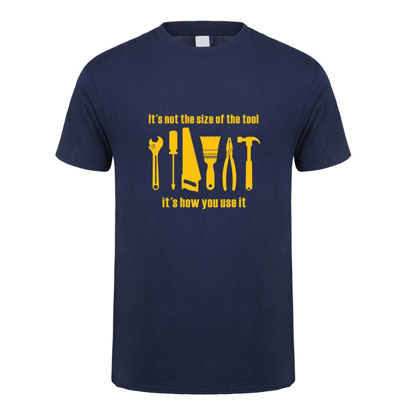 Napraw mechanik mechanik inżynier T Shirt Mans moda lato z krótkim rękawem mężczyźni narzędzie naprawcze Tshirt OZ-313