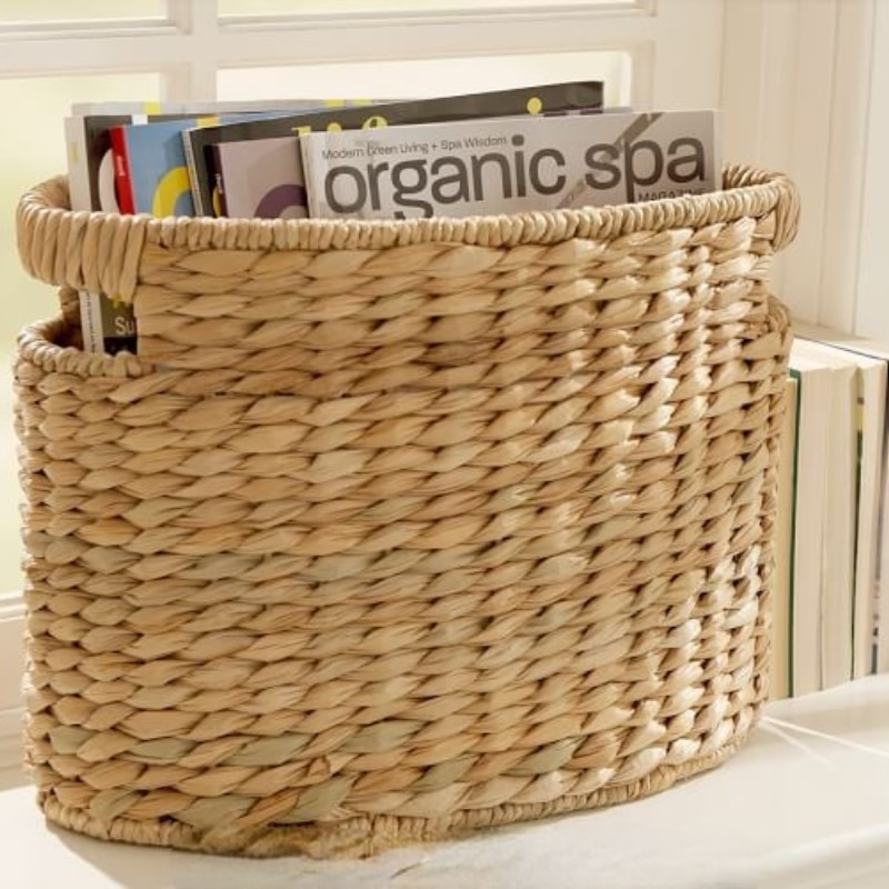 sustainable seagrass with clear lacquer basket wholesale home storage & organization