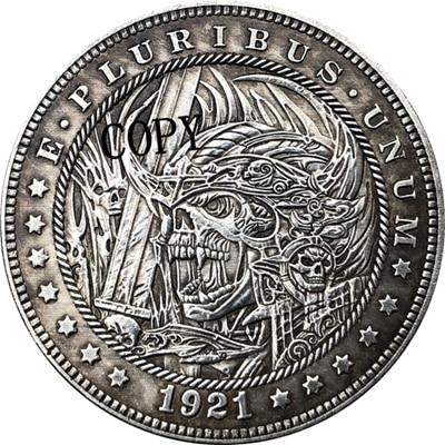 Hobo Nickel 1921-D USA Morgan Dollar COIN COPY Type 173