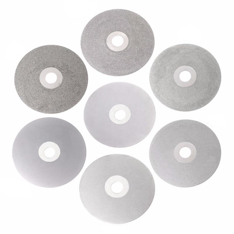 Disco de pulido Lapidary de 4 pulgadas, 100mm, 80-2000 #, con revestimiento de diamante, rueda plana