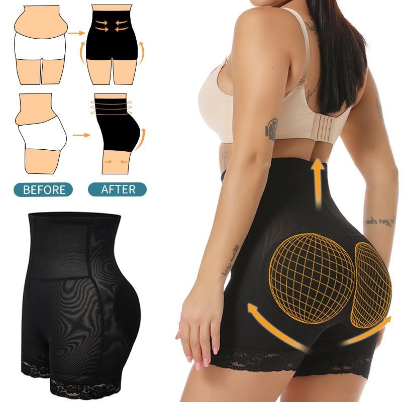 Formador de cintura alta levantador de trasero entrenador de cintura almohadillas de cadera potenciador de trasero moldeador de cuerpo abdomen adelgazamiento envoltura bragas acolchadas pantalones cortos