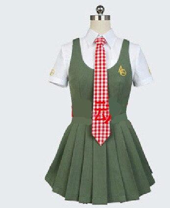 Аниме Danganronpa 2 Косплей Костюм Koizumi Mahiru милая девушка JK Униформа Школьный костюм вечерние костюмы на Хэллоуин рубашка + платье + галстук