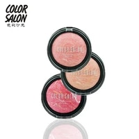color salon natural face pressed blush makeup baked blush palette baked cheek mineral easy to wear press powder