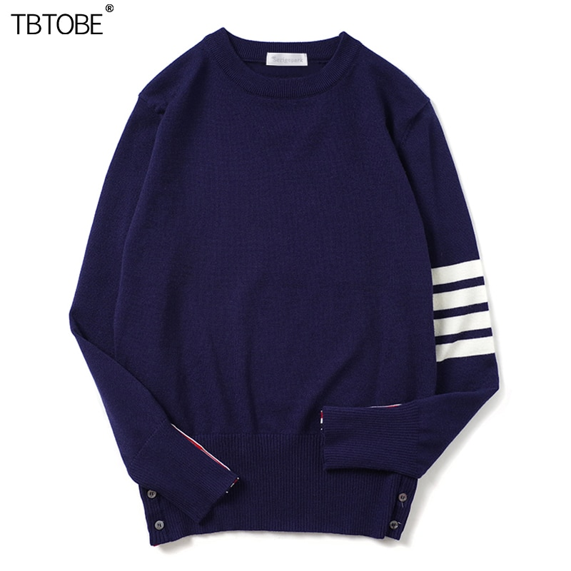 2021 new men's wool sweater France korea four line TBTOBE high quality sheep's wool pullovers spring winter style warm fashion