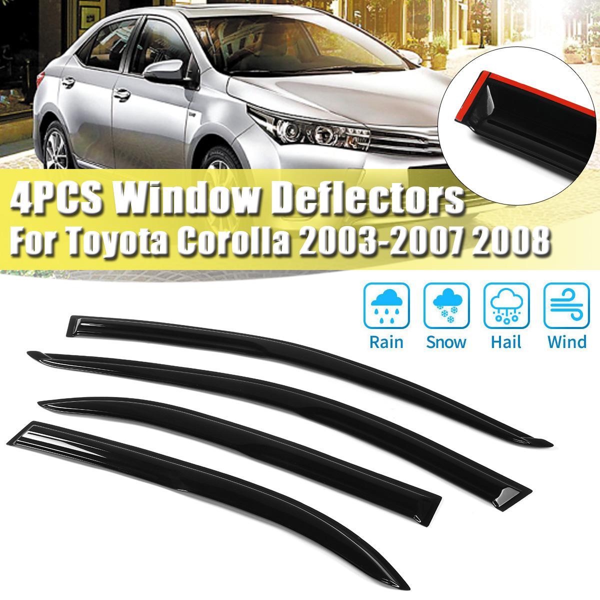 Car Window Rain Shield Visor Guards Protector Sun Wind Deflector Awning Shade Cover for toyota Corolla 2003-2008 Car Accessories