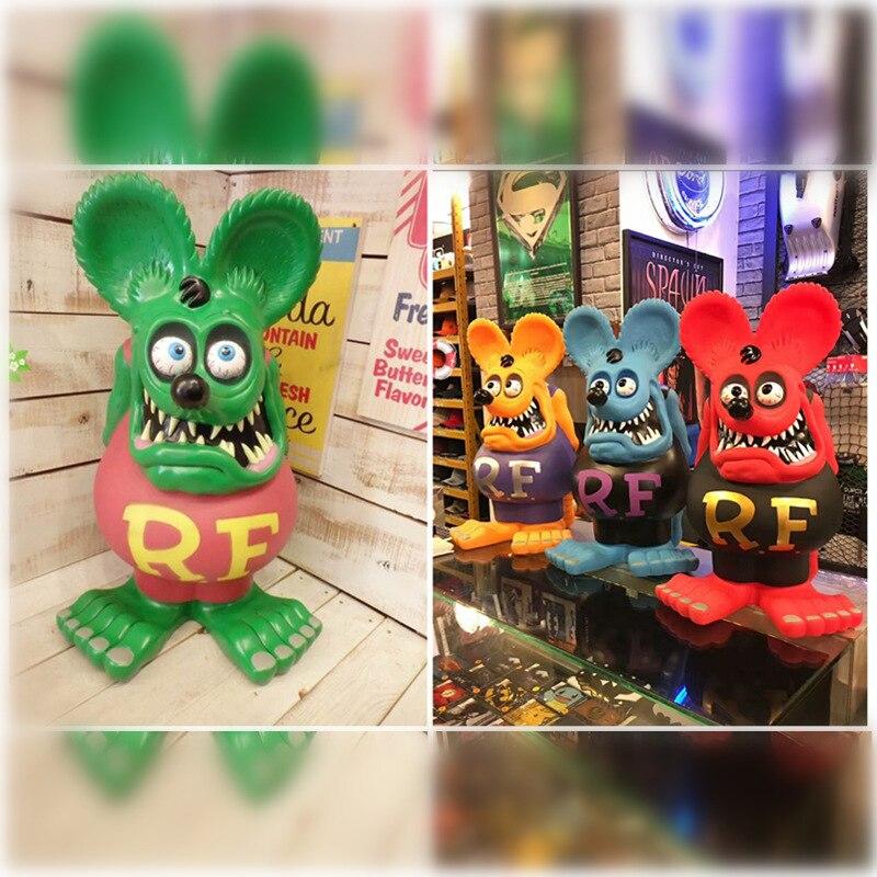 Legend of the mouse fink, figurita de modelo de mano, 24 pulgadas de largo, 4 colores hucha banco de juguete