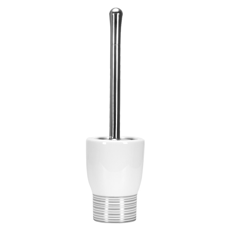Home Nordic Toilet Brush White Cleaning Bathroom Set Ceramic Toilet Brush Space with Base Wc Borstel Household Items DH50MTS enlarge