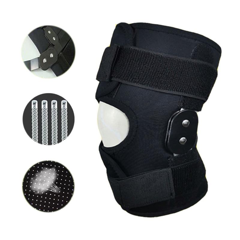 Joelheira ajustável orthose ligamento apoio esporte lesão ortopédica splint estabilizador médico joint joelheiras dor almofadas ao ar livre