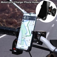 new aluminium universal qc 3 0 usb waterproof 12v cellphone mount stand power adapter handlebar motorcycle charger phone holder