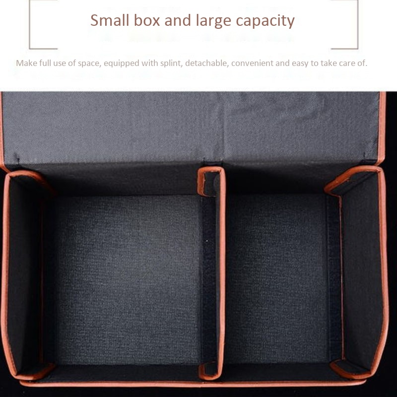 Car Trunk Storage Box PU Leather Four Color Size S M L Portable Foldable Large Capacity Storage Organizer Auto Accessories enlarge