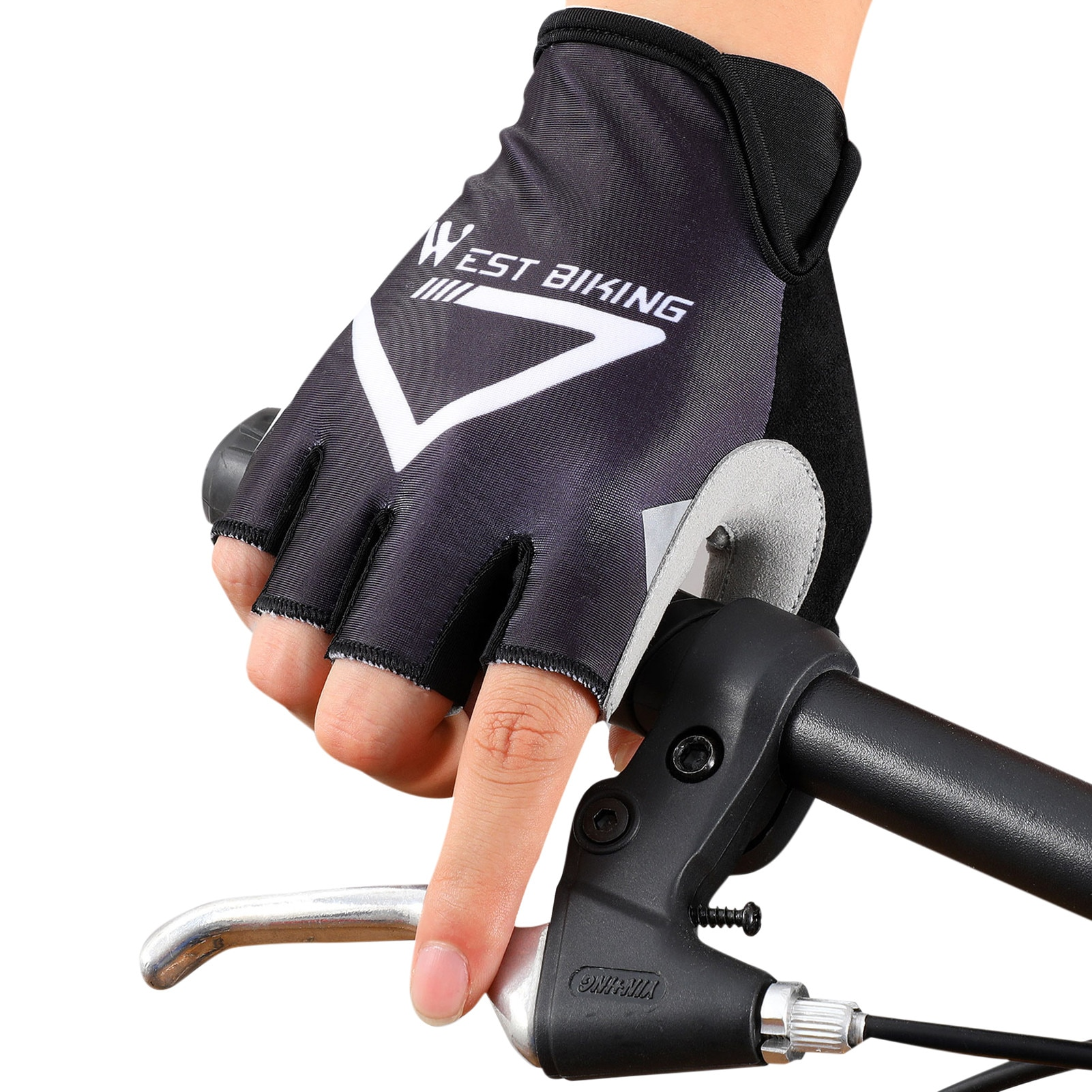 Cycling Anti-slip Half-finger Gloves Cycling Breathable Glove Outdoor Anti-sweat Men Women Sport Riding Gloves