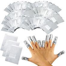 Feuille daluminium pour Nail Art, 100 pièces par lot, à trempage, outil de maquillage, Gel acrylique et vernis à ongles