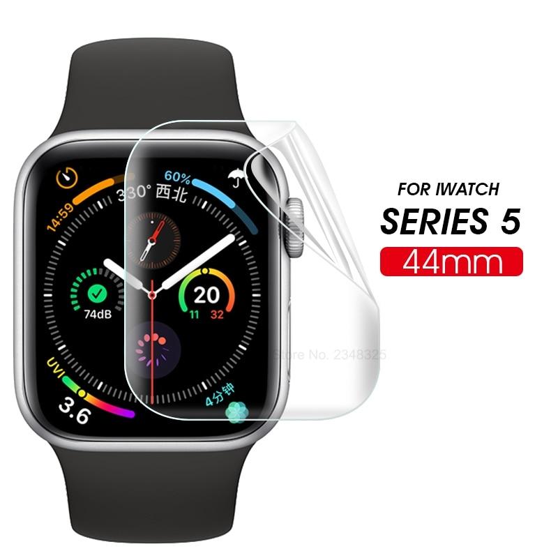 Vidrio de película de hidrogel de pantalla completa 9D para Apple Watch 5 40mm 44mm cubierta protectora de vidrio templado para i ver serie 5 44 40mm