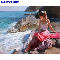 gatyztory frame women diy painting by numbers kit acrylic canvas paint by numbers handpainted oil painting for home decoration