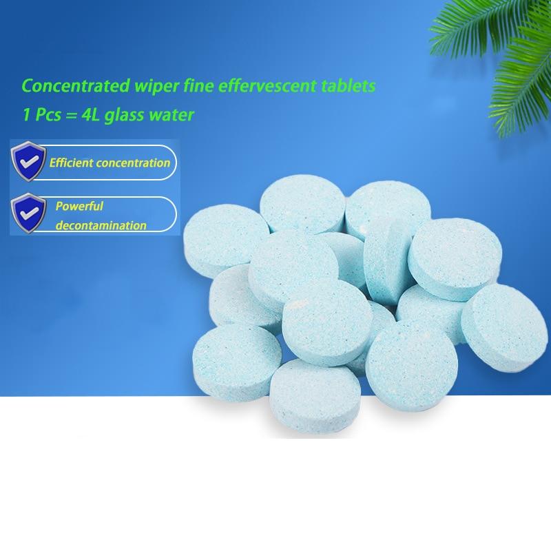 1-10Pcs Car Super Concentrated Solid Oil Film Cleaner Wiper Fine Glass Water Wiper Liquid Effervesce