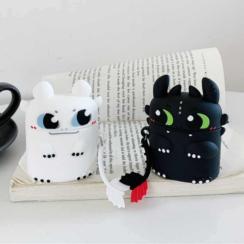 Hot Stereoscopic Dragon Night Fury Cute Case for AirPods Silicone Bluetooth Earphone Airpods 2 Cartoon Protective Cover