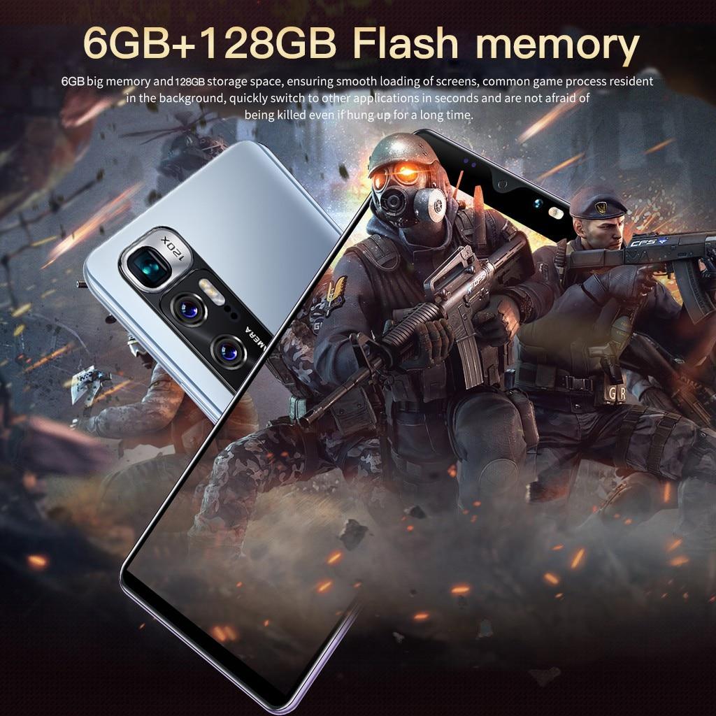 Note 10 Smartphone Android 6GB+128GB 4G/5G Unlock Game Cell Phones Smart Fingerprint Sensor Face ID Global Version Mobile Phones enlarge