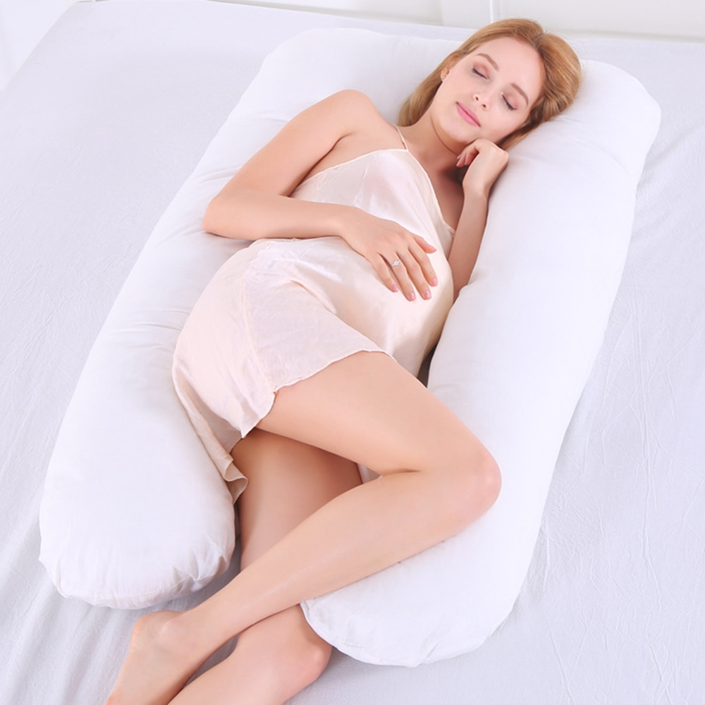 1 Pcs Pregnancy Pillow U-Shaped Full Body Pillow Maternity Support for Pregnant Woman's Back Hips Le