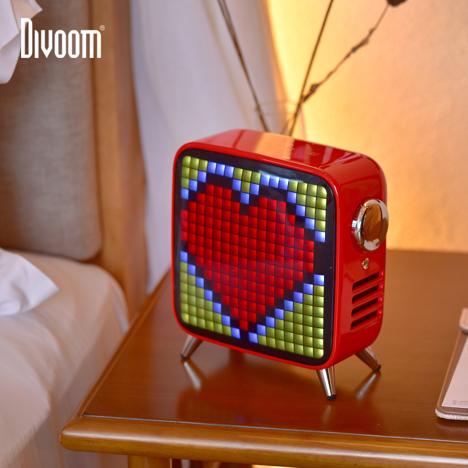 Divoom Tivoo Max Pixel Art Bluetooth Wireless Speaker with 2.1 Audio System 40W Output Heavy Bass App control for IOS & Android