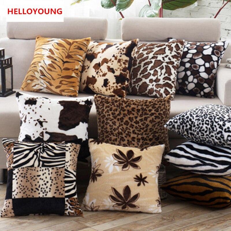 1 pçs leopardo pontos folha padrão macio curto veludo lance travesseiro capa de almofada assento do carro casa sofá cama decorativa fronha