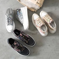 spring autumn women platform shoes patchwork floral sneakers fashion sneakers height increasing flats ladies chaussure