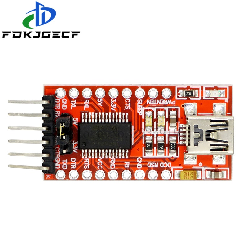 FTDI FT232RL USB to TTL Serial Converter Adapter Module 5V and 3.3V For Arduino