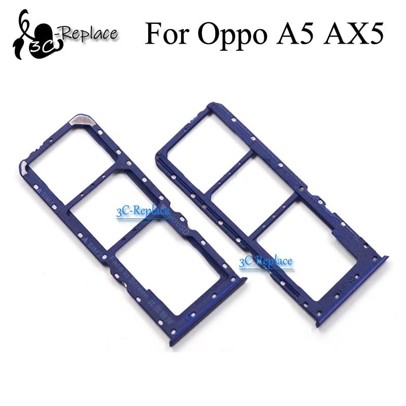Para BBK Oppo A5 AX5 AX5B PBAT00 PBAM00 CPH1809 Sim bandeja soporte de tarjetas Micro SD Slot partes adaptador de tarjeta Sim