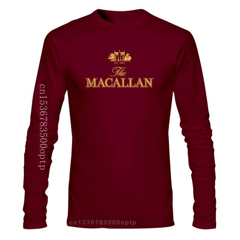 Camiseta negra de manga larga, 4562D The macalan Est 1824, The Malt...