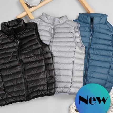 Nuevo Xiaomi Mijia Youpin de los hombres chaleco fino algodón down collar de la chaqueta chaleco grande chaleco ligero chaleco
