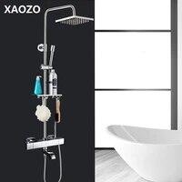 bathroom shower set head bath shower mixer with hand shower faucet rainfall shower rain waterfall brass shower faucets set