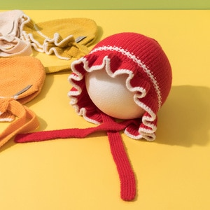 Winter Warm Hat For Kids Cute  Baby Girls Hat With Ears Knitted Lacing Ear Protection Toddler Cap Beanies Bonnet