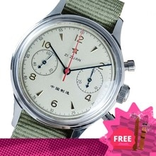 Sugess Chronograph Watch For Men Sapphire Mechanical Military Pilot Seagull Movement Classics Nylon