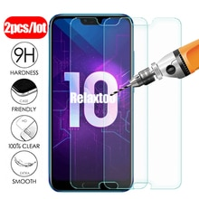 2pcs protective Glass on honor 10 light screen protector For huawei honor 10i tempered glass honer 10 lite honor10 i safety Film