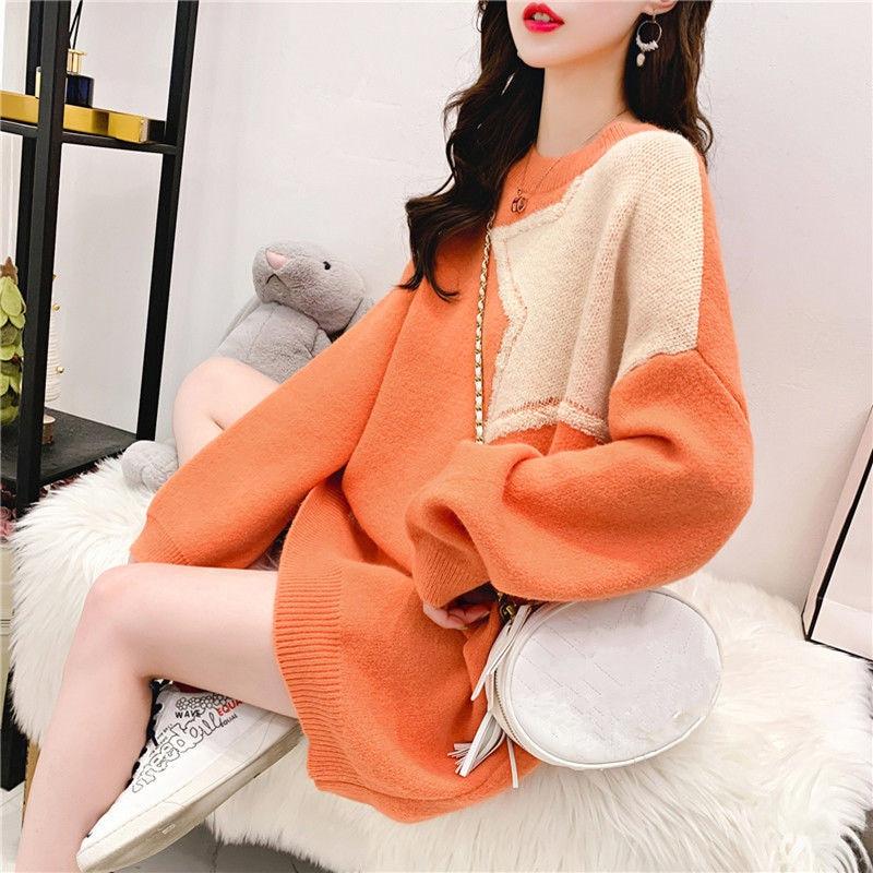 2020 outono e inverno versão coreana do solto preguiçoso vento pulôver camisola feminina ins super fogo hong kong sabor camisa maré