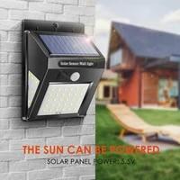 3040 led solar powered pir motion sensor wall security lights garden outdoor