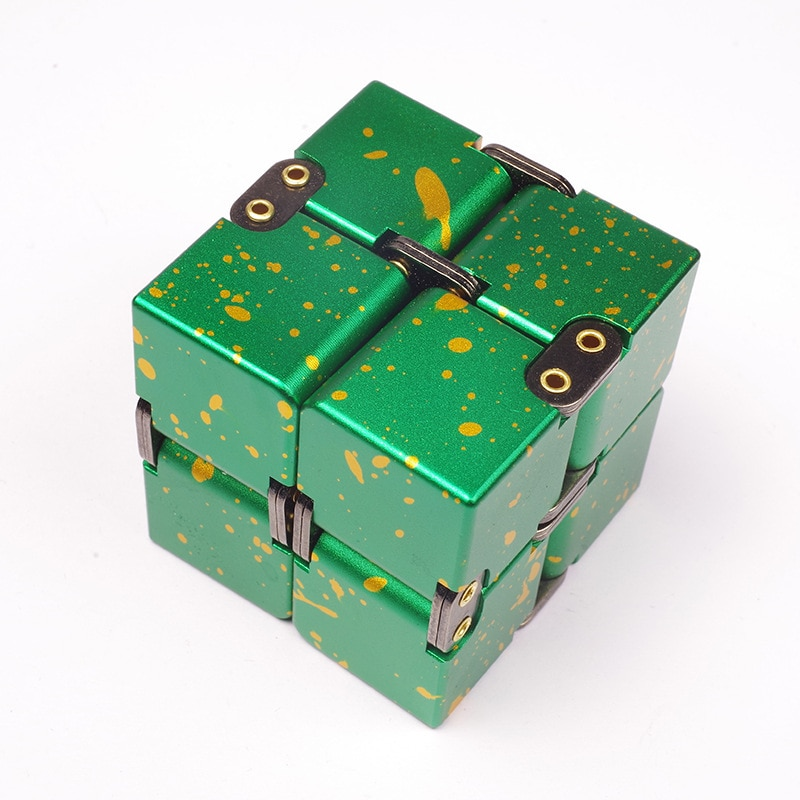High Quality Metal Infinity Cube Finger EDC Anxiety Stress Relief Magic Cube Blocks Children Kids Funny Toys Best Gifts enlarge