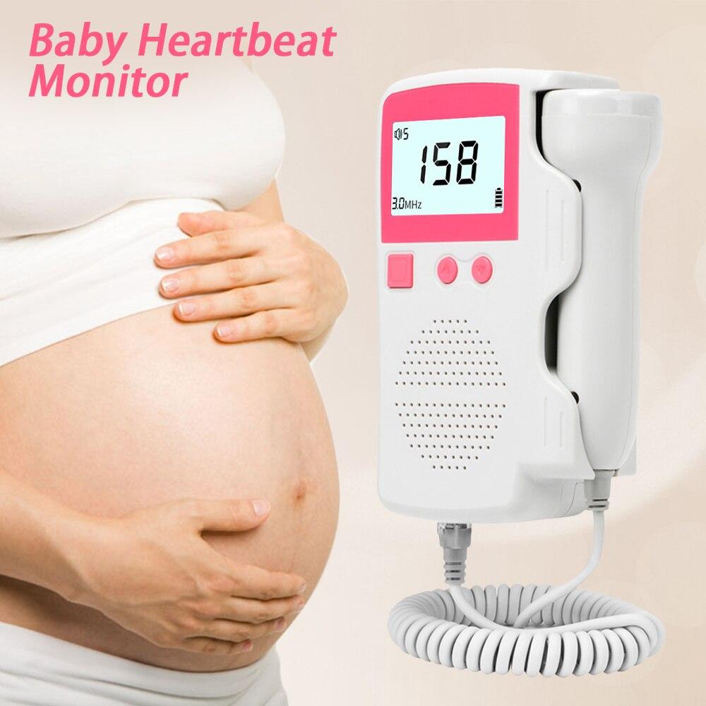 3,0 MHz Doppler Foetale Hartslagmeter Thuis embarazo bebé Foetale Geluid Hartslag Detector Lcd-scherm Geen Straling