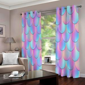 Window Treatment 3D Curtain Window Blackout Curtain Living Room Colorful Curtains For Kitchen Bedroom