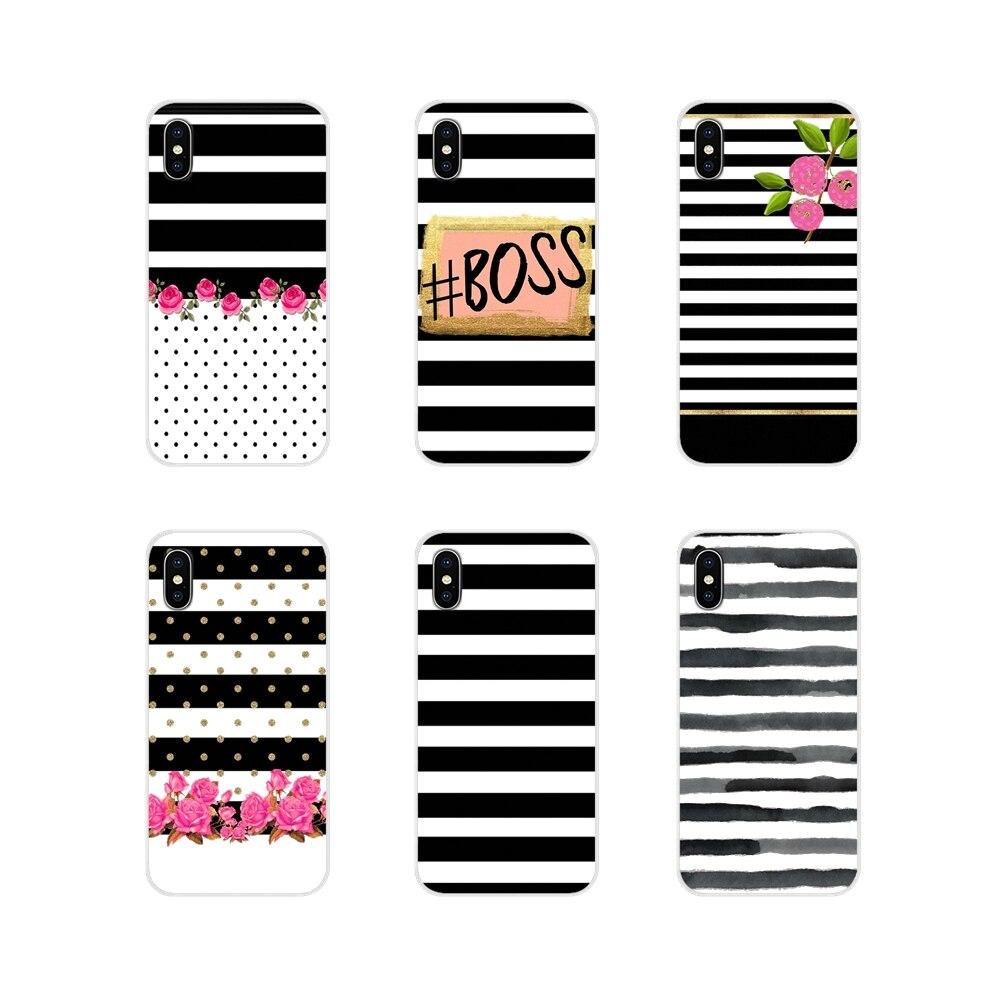 Черный, белый цвет полосы золотой любви для сотового телефона для из ПВХ для LG G3 G4 мини G5 G6 G7 Q6 Q7 Q8 Q9 V10 V20 V30 X Мощность 2 3 K10 K4 K8 2017