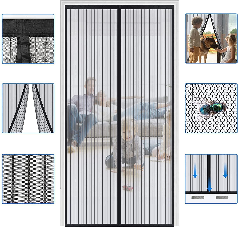 حجم مخصص مكافحة البعوض الستائر صافي الباب المغناطيسي نافذة الشاشة يطير علة الحشرات إغلاق شاشة للباب شبكة للمطبخ المنزل