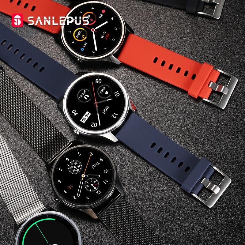 2020 nova sanlepus relógio inteligente esporte monitor de freqüência cardíaca à prova dwaterproof água pulseira de fitness das mulheres dos homens smartwatch para android apple xiaomi
