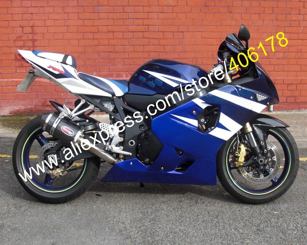 Para GSXR 600 K 5 750 K4 2004 2005 GSXR600 GSXR750 04 05 R600 R750 azul blanco Motor carenado set (moldeo por inyección)