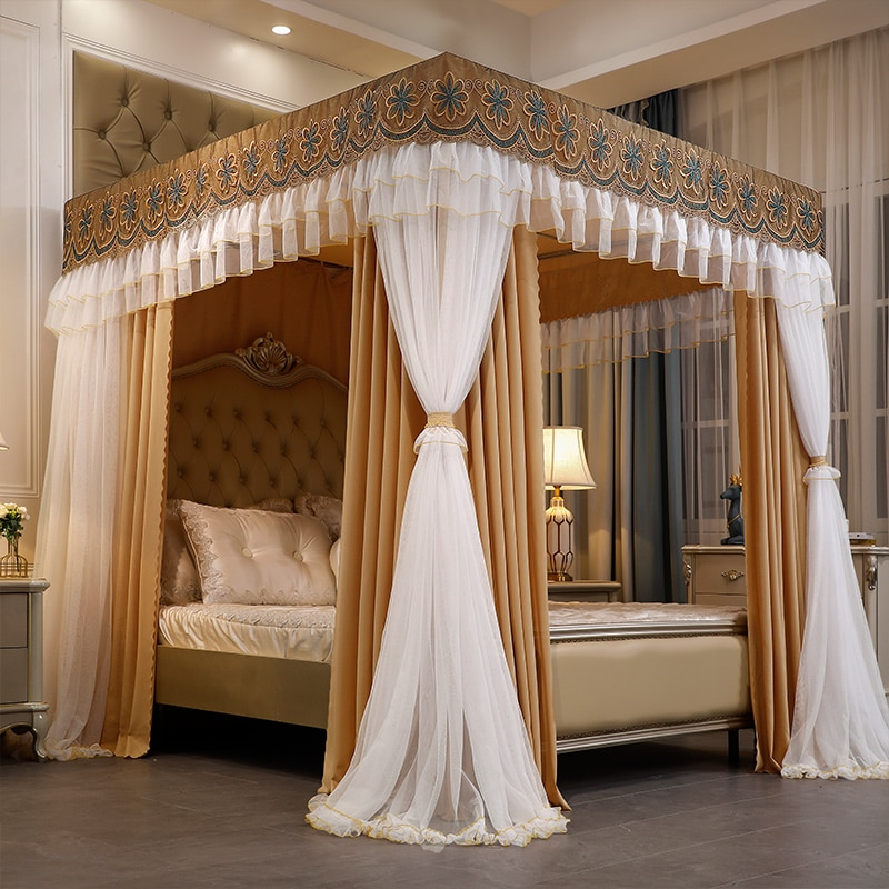 للطي الشمال كبير ناموسية مانع لغلق الباب من القماش ستائر زخرفية الأميرة المظلة الكبار هيكل سرير الملكة البعوض غرفة نوم خيمة