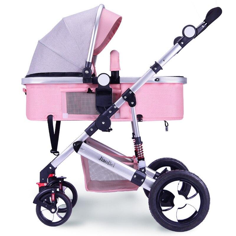 Детская коляска с высоким ландшафтом, детская коляска для новорожденных, автомобильное сиденье, детская коляска, автомобильное сиденье