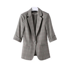 Plaid Blazer Women's Short Small 2021 Spring and Summer New Korean Style Slim Fit Casual Thin Suit