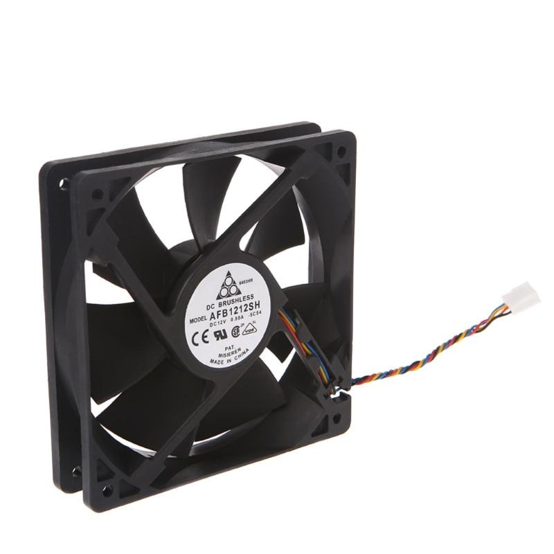 120x120x25mm sem escova dc12v 0.80a 7-lâmina ventilador de refrigeração 12025 para delta afb1212sh 95ad