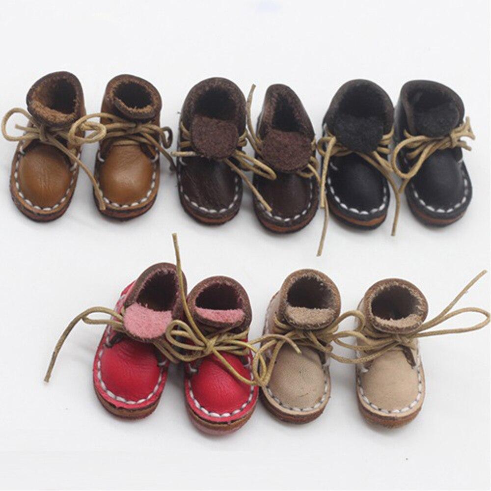 2.3cm mini sapatos para obitsu ob11 bjd 11 cm boneca bonito sapatos esportivos bola conjunta boneca artesanal botas de couro