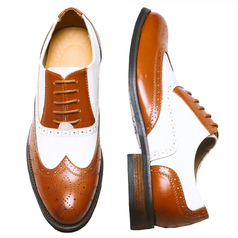 38-48 masculino couro genuíno brogues oxford sapatos planos para homens marrom artesanal vintage casual tênis de couro de vaca sapatos planos 2020