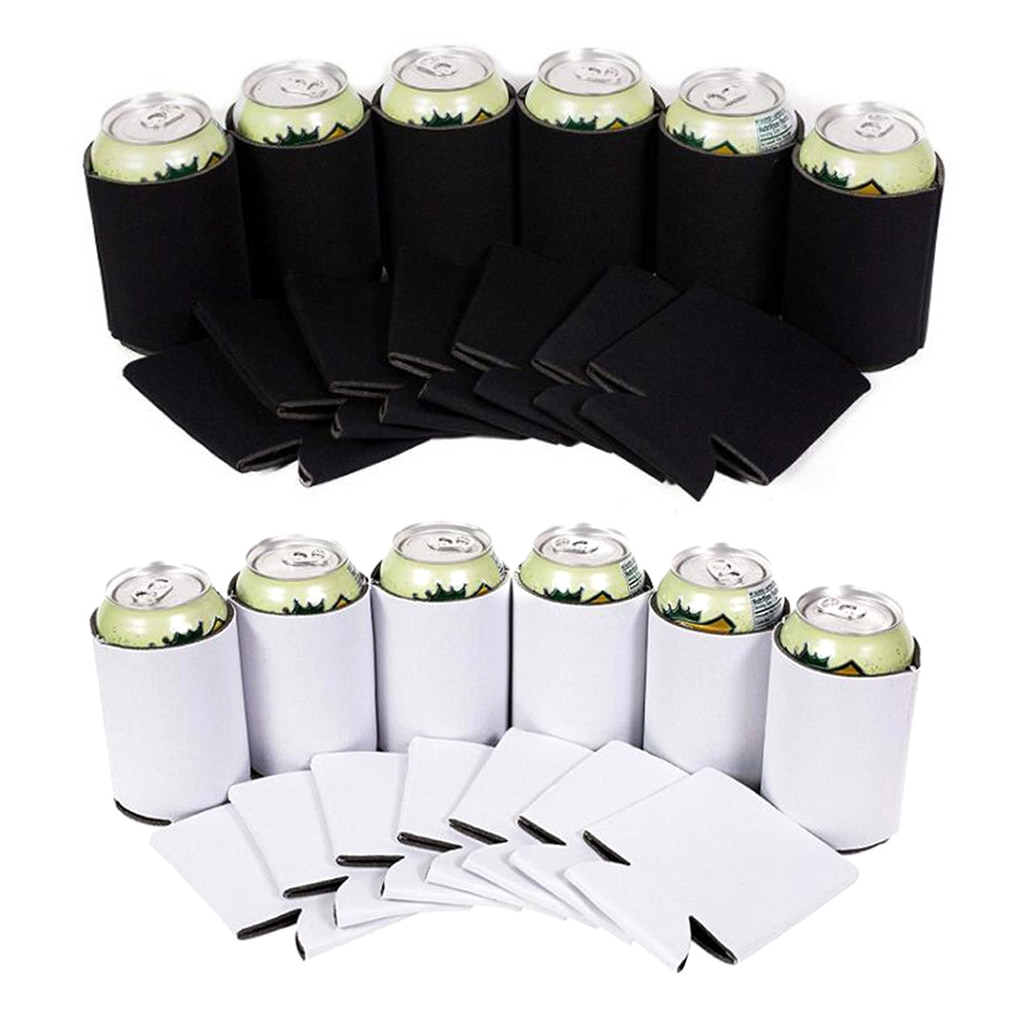 10 Uds. Enfriador de latas de cerveza ligero mangas suaves aisladas reutilizables para botellas de agua Bebidas frías y calientes Homew suministros de viaje