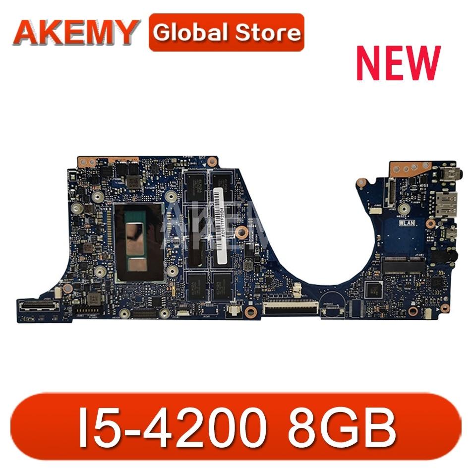 Akemy UX301LA اللوحة الأم للكمبيوتر المحمول ASUS UX301LA UX301LAA UX301L UX301 اختبار اللوحة الرئيسية الأصلية I5-4200 8GB RAM اللوحة الأم